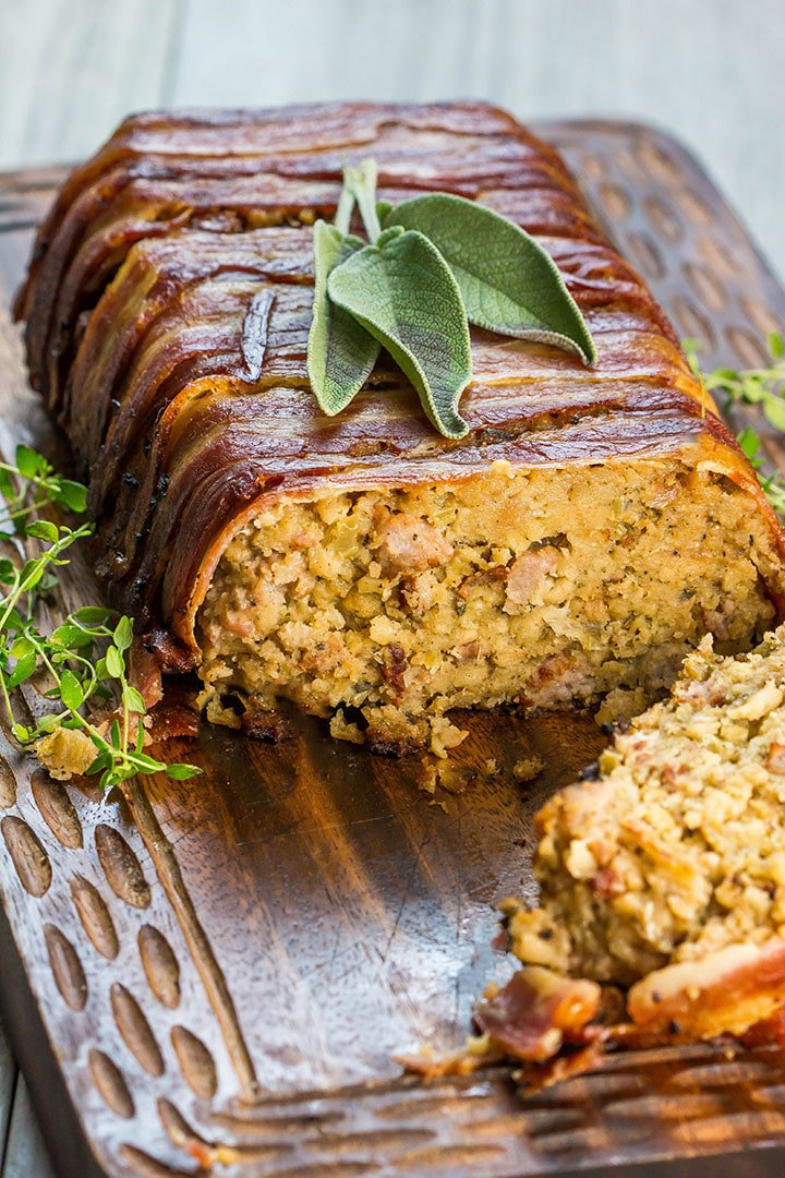 bacon wrapped stuffing side dish